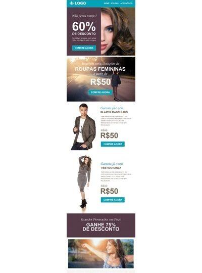 Modelo de E-mail marketing de produtos